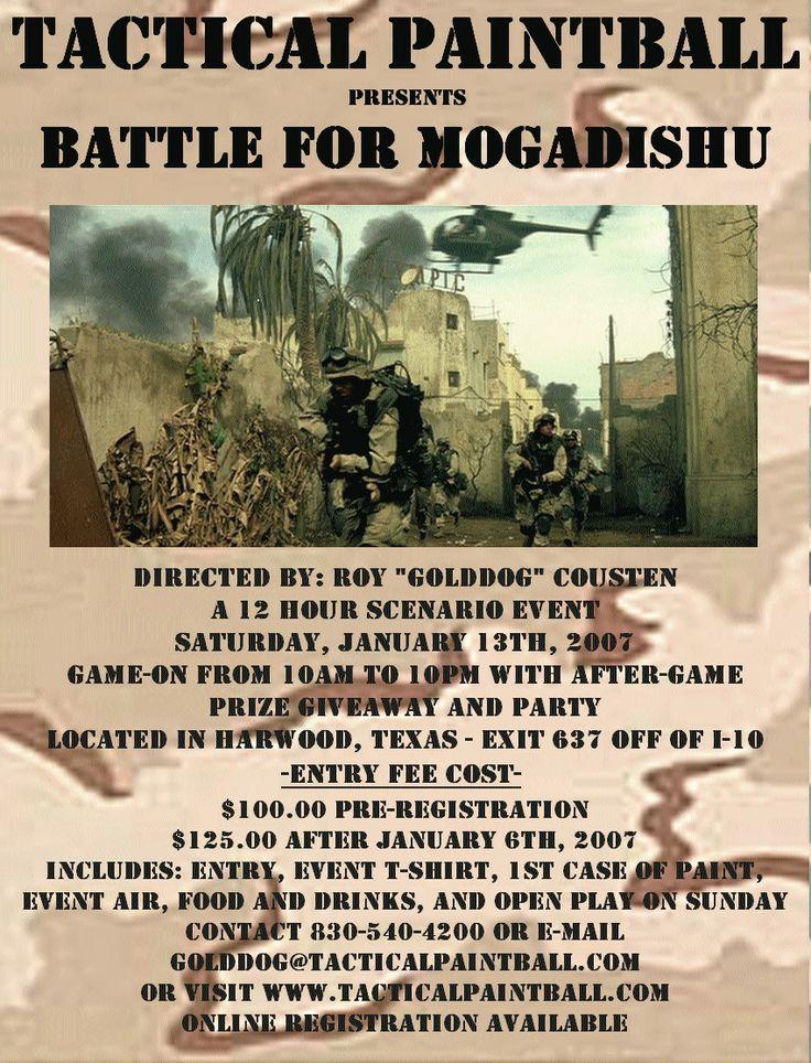 """La Batalla de Mogadiscio (también conocida como la Batalla del Mar Negro, """"El día de los Rangers"""""""