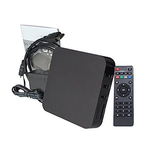 OS: Android 4.4. Supports KODI, DLNA, Miracast and Remote Control. High Definition Video Output: 4K * 2K. * CPU: Rockchip RK3229 Quad Core 32bit Cortex-A7, 1.2GHz. GPU: Quad Core Mali-400 GPU. * RAM: 1GB DDR3; ROM: 8GB NAND FLASH. Expanded Memory: Supports SD Card (Up to 32G). * 1G RAM & 8G ROM: 1GB DDR3 RAM helps you to run games smoothly without any compromise. 8GB NAND FLASH allows you to install your favorite apps and store multimedia files with faster speed. * (Placed within the Amazon