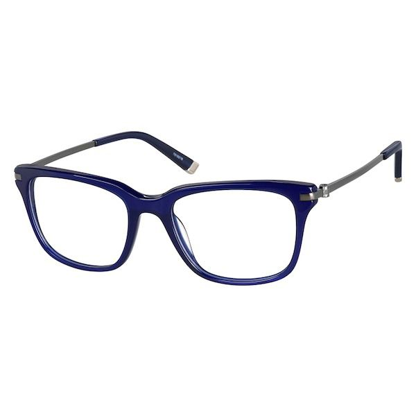 3bd4c60f08f2a Zenni Classic Square Prescription Eyeglasses Blue Tortoiseshell Mixed  Materials 7818216
