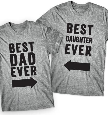 Celebrate Father's Day with these best dad and daughter matching shirts! Real dads take pictures with their daughters wearing matching shirts. This product features 2 shirts.
