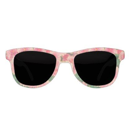 Women's trendy pink flower sunglasses - trendy gifts cool gift ideas customize