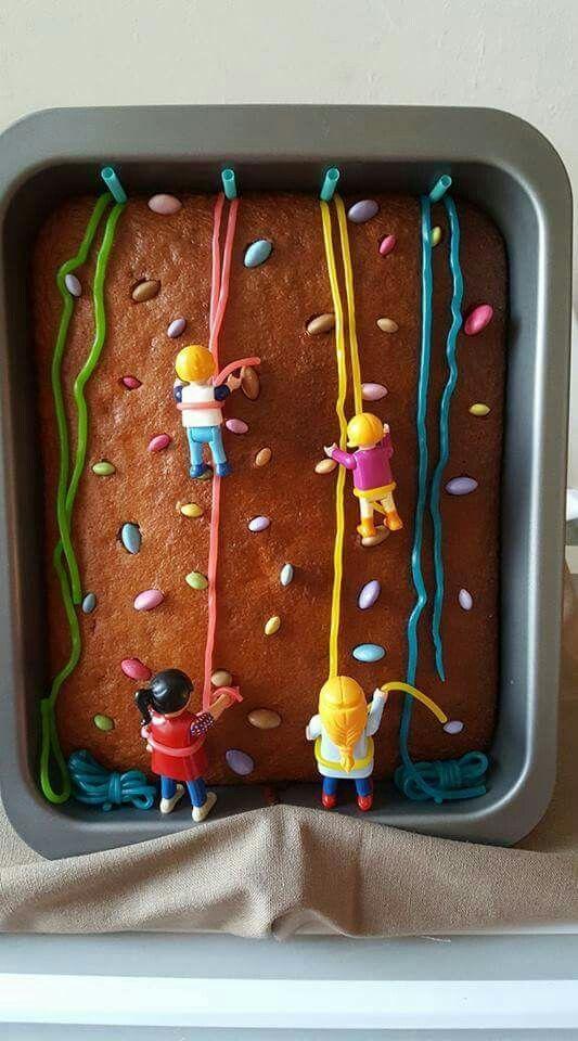 Wall climbing cake