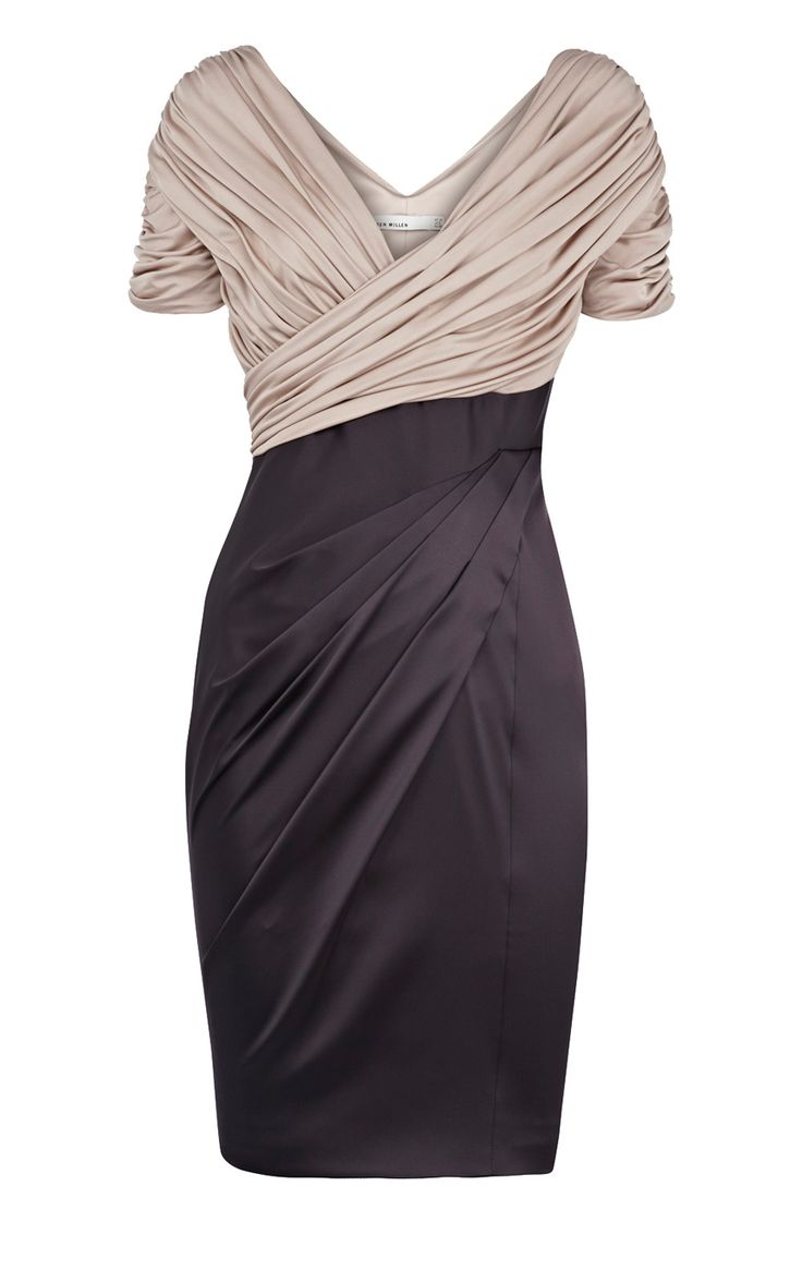 LOVE this!     karen millen jersey and satin dress  Lucky me has this hanging in mine :))