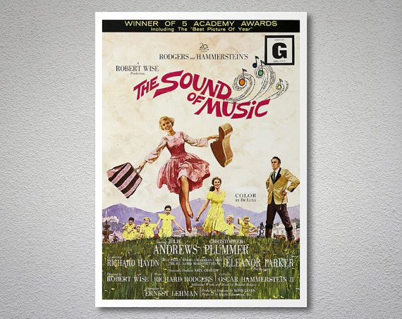The Sound of Music Movie Poster  Julie Andrews Christopher