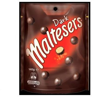An outer of 24 Maltesers Dark 140g packs.
