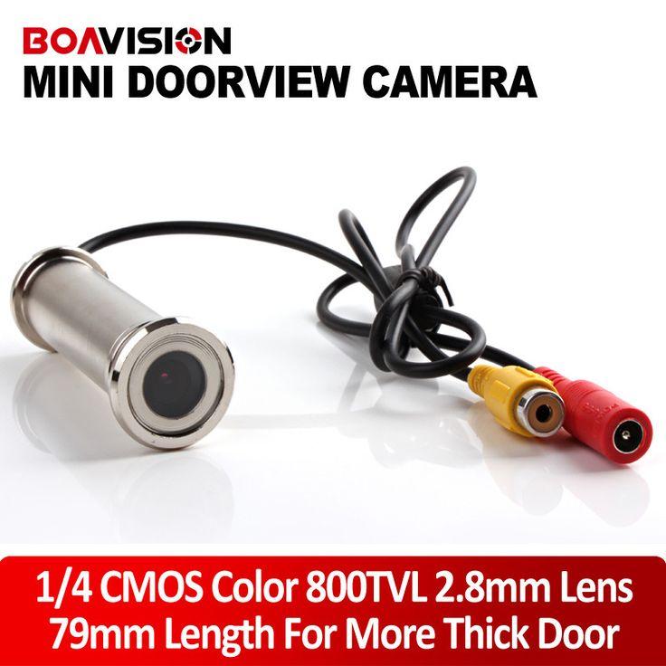 "1/4"" 800TVL 2.8mm Lens 79mm Length Wired CCTV DOORVIEW Door Eye Hole Security Color Camera For More Thick Door"