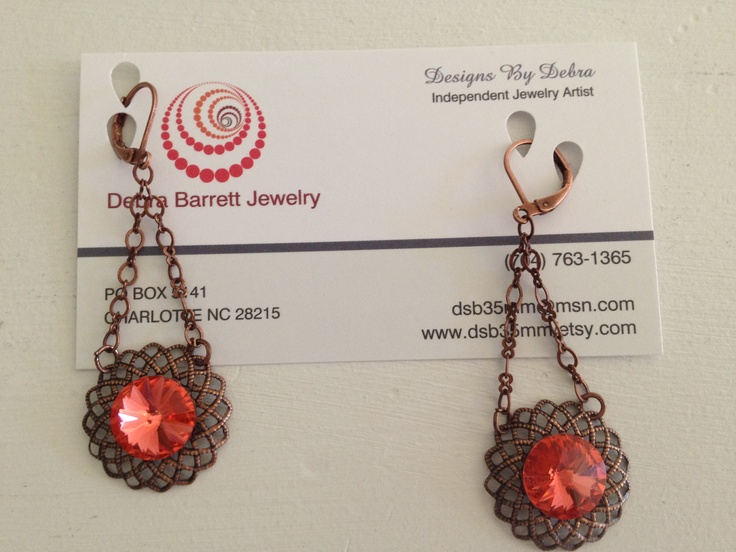 The 11 best business cards images on pinterest business cards debra barrett jewelry business card earring holder reheart Gallery