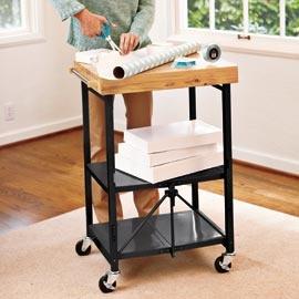 Folding Utility Cart, Folding Kitchen Cart, Kitchen Cart on Wheels | Solutions