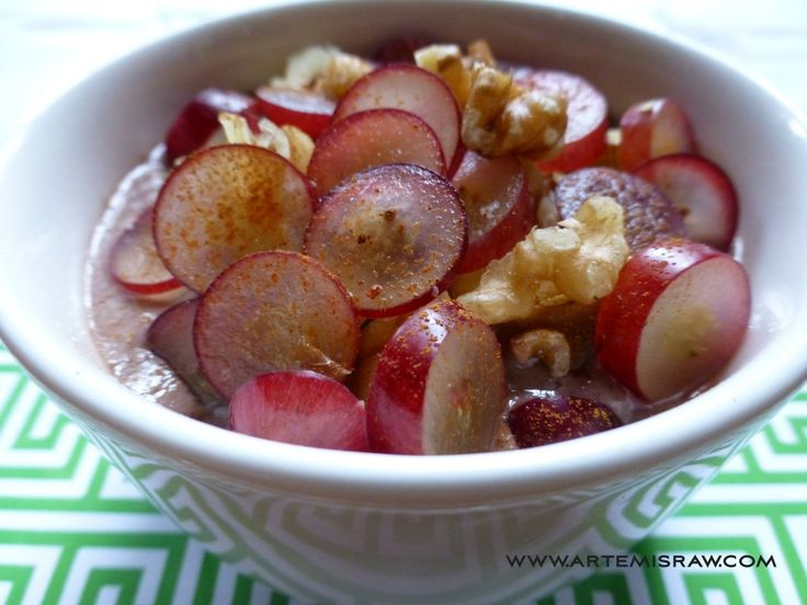 Artemis Raw's Moustalevria - Grape pudding. Check out the recipe at www.artemisraw.com/moustalevria/