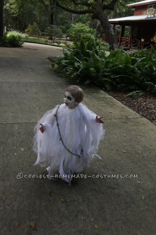 Spooky Ghost Halloween Costume for a Toddler - 3