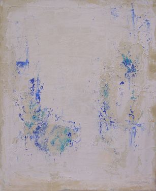 "Saatchi Art Artist Doris Duschelbauer; Painting, ""POCO AZUL SORE MUCHO BLANCO "" #art"