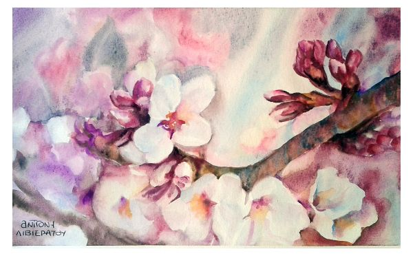 ...where does your inspiration derive from? Welcome back spring! Watercolour by AntigoniLivieratou http://goo.gl/b643GG Spring is officially here! I would like to thank you for inspiring me during those cold winter months!