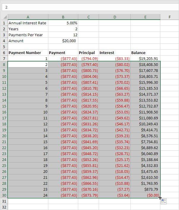 multiple loan amortization excel