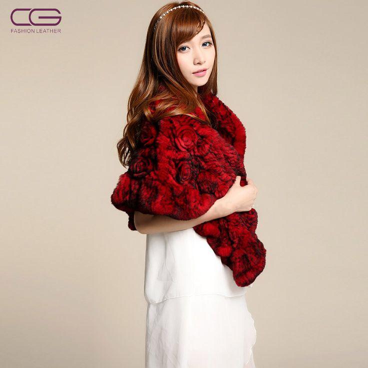 stola di pelliccia ecologica, rossa.
