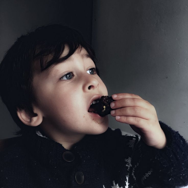 Gaspard enjoying a piece of homemade chocolate brownie which both of us have a soft spot for...
