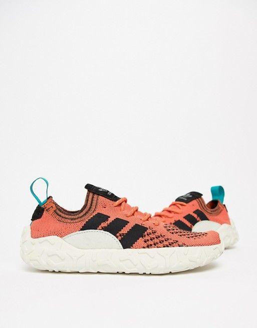 new style cfc8d 5d7c4 adidas Originals F22 Primeknit Sneakers In Orange