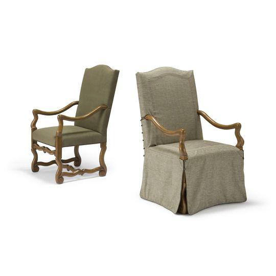 Os de Mouton Arm & Side Chairs style