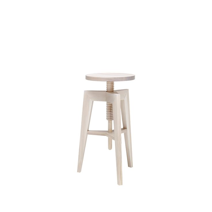 Ash screw stool / high by Mint Furniture.