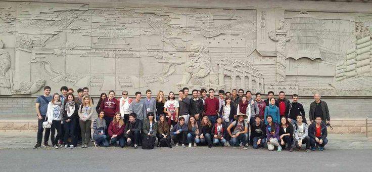 L'école d'automne scientifique sino-francaise Centrale Pékin avec la #prepa Saint-Louis au complet ! #Chine