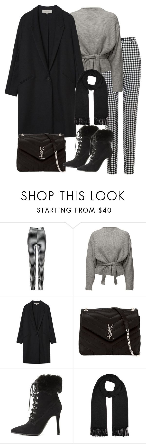 """Untitled #4939"" by theeuropeancloset ❤ liked on Polyvore featuring Gérard Darel, Yves Saint Laurent, Charlotte Russe and Acne Studios"