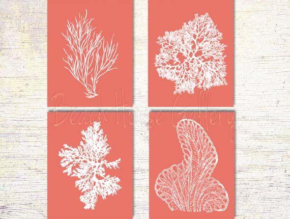 Corail Art tirages de corail roses rose corail impression