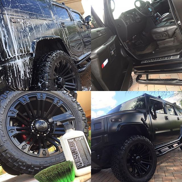 This #matte #black #hummer received it's #detail done right by #autorunnersdetailing in #phoenix with #feslerdetail products! #tires #details #autorunners #feslernation #show #perfect #handwash #waxedit #wax #cool #carwash #autodetailing #cardetails #service #mobile #customerservice