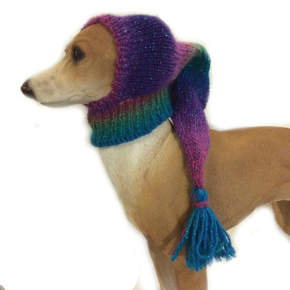 Sparkling Purple mix small dog Snood by JackBentleyKnitwear