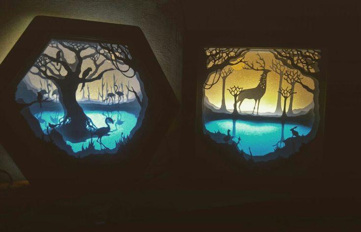 Handpapercut shadowboxlight