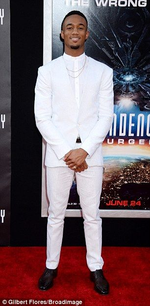 Jessie T. Usher at LA premiere of Independence Day: Resurgence | Daily Mail Online