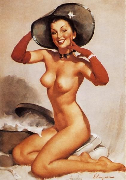 Perfection (Appealing), 1940s   Gil Elvgren pinup #pinupartsource #elvgren