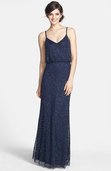 blue dresses for wedding papell embellished blouson gown nordstrom 1929
