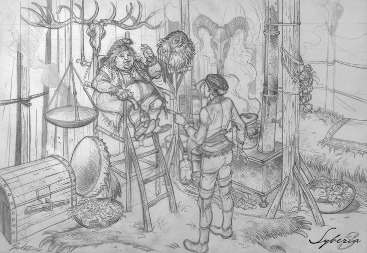 Benoit Sokal's Syberia 3 artwork (Microids) // #Syberia3 -Ayawaska- Youkol camp
