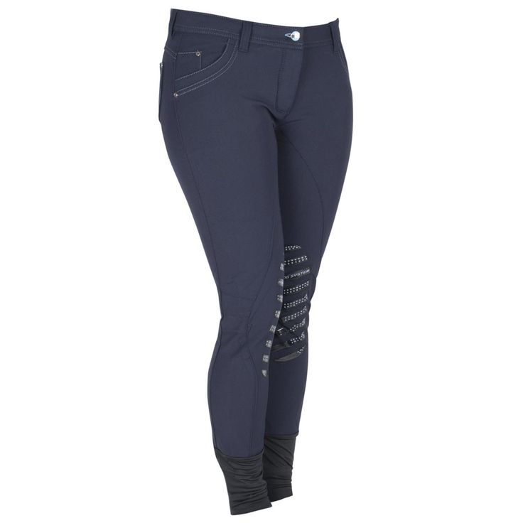 De Animo Nu Rijbroek is voorzien van jeanszakken aan de voor- en achterzijde. De zakken aan de achterzijde zijn gesierd met chique Swarovski steentjes. De rijbroek heeft animo grip system knievlakken voor extra stabiliteit in het zadel. De naden op de knieën zijn verwerkt om de knie heen wat irritatie tegengaat.#animo #ridingbreech #rijbroek #jeans #swarovski #steentjes #sparkle #shine #fashion #mode #equestriansports #ruitersport #divoza #donderblauw #darkblue