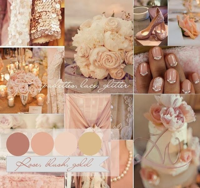 Romantic Summer Wedding Colors Rose, Blush, Gold Tagged By: #Cinderella4aday