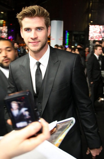 Liam Hemsworth at the Berlin premiere of The Hunger Games today.