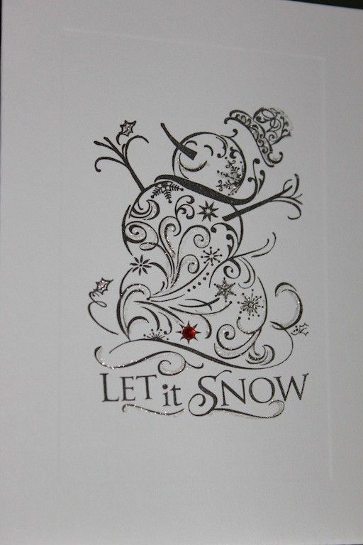 Snowman Let It Snow Christmas Thank You Cards by absolutelyeva, $6.50