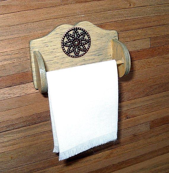 Rustic Towel Bar Dollhouse Miniature 1/12 Scale by CalicoJewels, $15.00