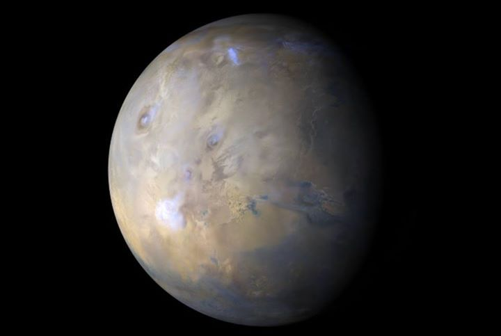 Latest weather report from Mars, courtesy of NASA's Mars Reconnaissance Orbiter: during the second half of the week, Argyre was battered with dust from southern Sirenum and Aonia. The barrage started to subside at the end of the week. Moving our attention to the tropics, the Tharsis Montes and Olympus Mons gradually became more veiled by diffuse water-ice clouds. The robotic explorers, Curiosity in Gale Crater and Opportunity on Meridiani Planum, experienced storm-free conditions. More…