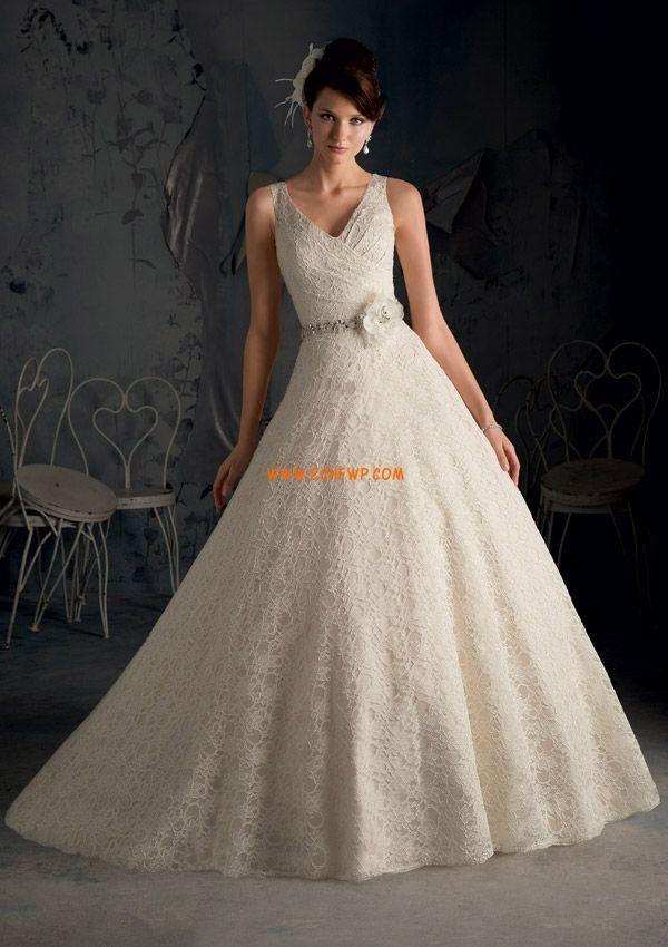 Plus storlekar Spets Ärmlös Bröllopsklänningar 2013