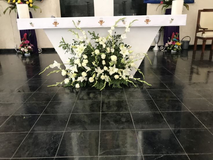 CBG246 wedding Riviera Maya church arrangements/ arreglos para iglesia