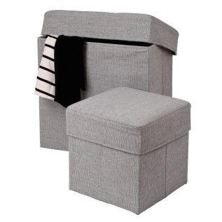 Till soffan och filtar  Sittpuff Grov Ihopvikbar 31x31 cm