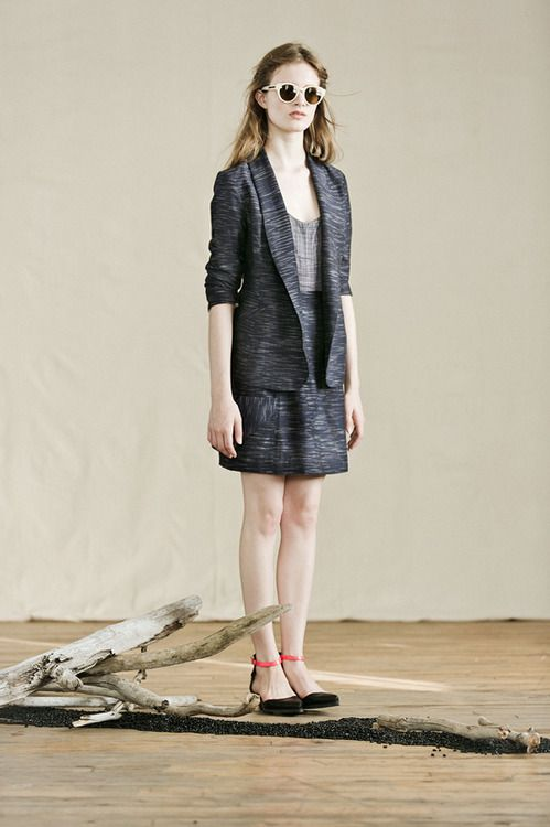 Feral Childe Prairie Blazer and Spade Skirt in Khadi (handloomed fabric)