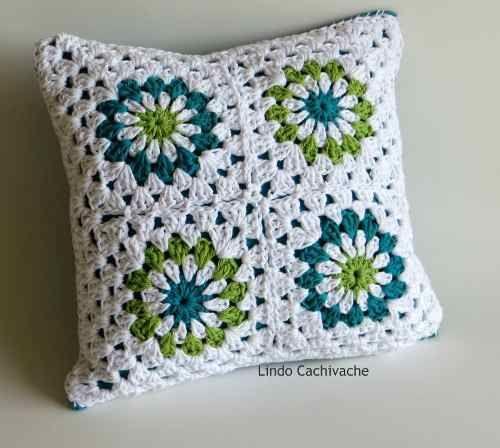 Peque Almohadones Cuadrados - Tejidos Al Crochet - - $ 125,00 ...