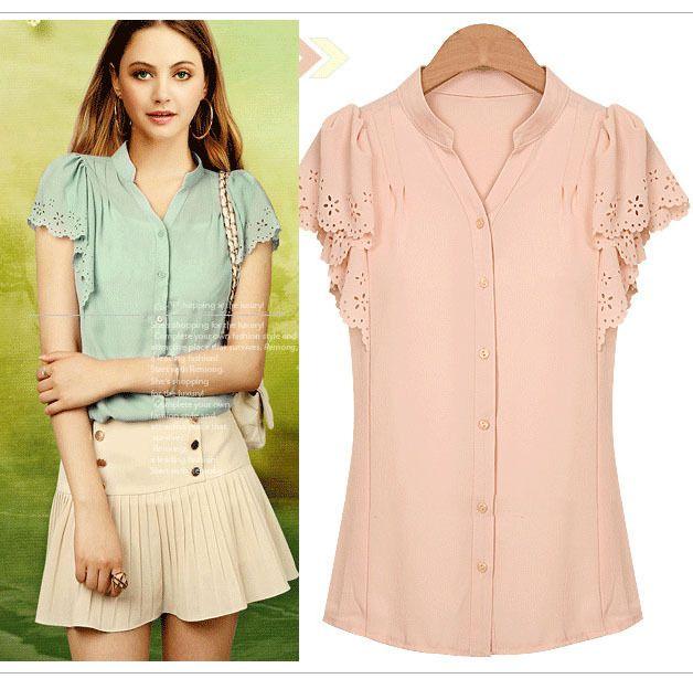 2014 european summer fashion woman chiffon t shirt ol elegant channel brand design cute tops blouse for women t-shit plus size $14.99