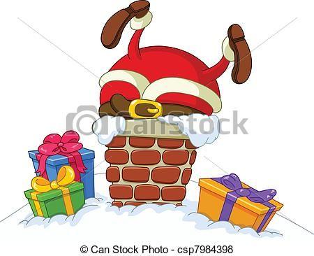 Vector - Stuck, kerstman - stock illustratie, royalty-vrije illustraties, stock clip art symbool, stock clipart pictogrammen, logo, line art, EPS beeld, beelden, grafiek, grafieken, tekening, tekeningen, vector afbeelding, artwork, EPS vector kunst