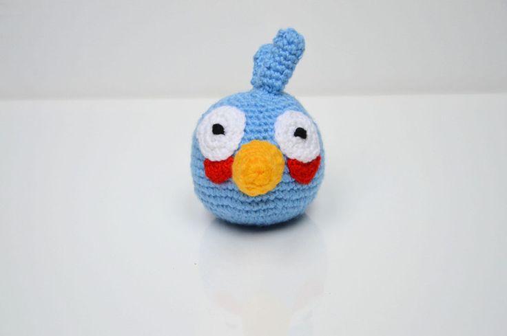 Angry Birds Szydełkowy niebieski ptasior w MadiCraft na DaWanda.com