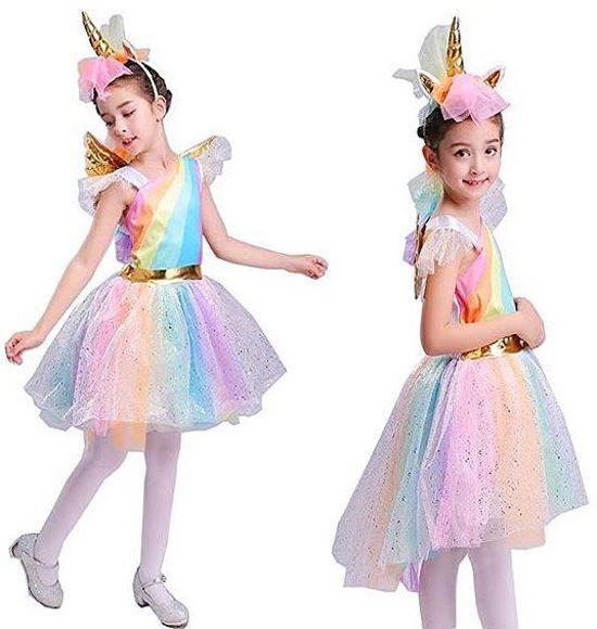 eenhoorn jurk unicorn jurk eenhoorn kostuum 116 122 m