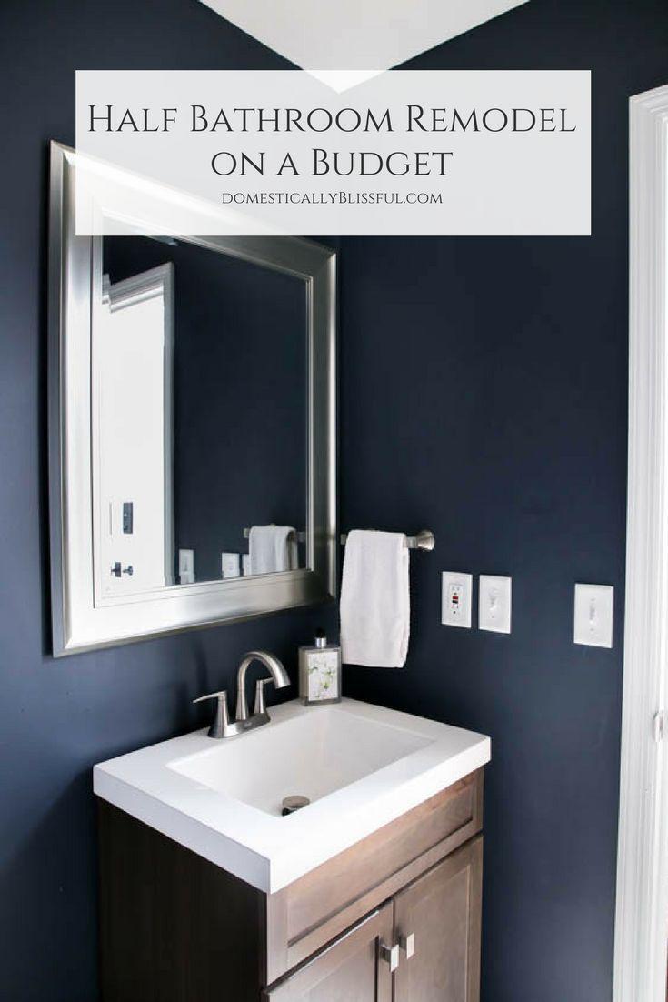 Half Bathroom Remodel on a Budget | Half bathroom remodel, Small