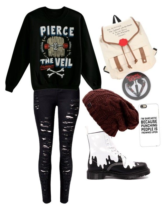 """Me and @Tasialynn93 have the same senapi XD"" by akwardpotato on Polyvore featuring Dr. Martens and Casetify"