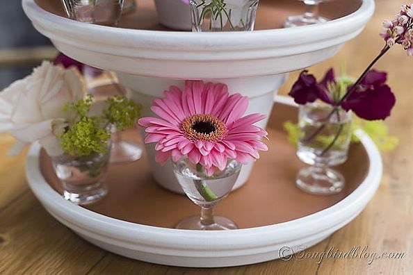 Turn You Leftover Terracotta Pots Into a Centerpiece for Your Table - http://www.hometalk.com/2106463/turn-you-leftover-terracotta-pots-into-a-centerpiece-for-your-table